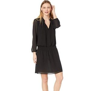 J Crew Mercantile Black Smocked Tie Front Dress